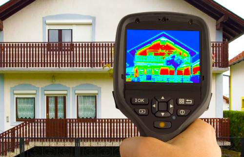 Thermal cameras for heat leakage